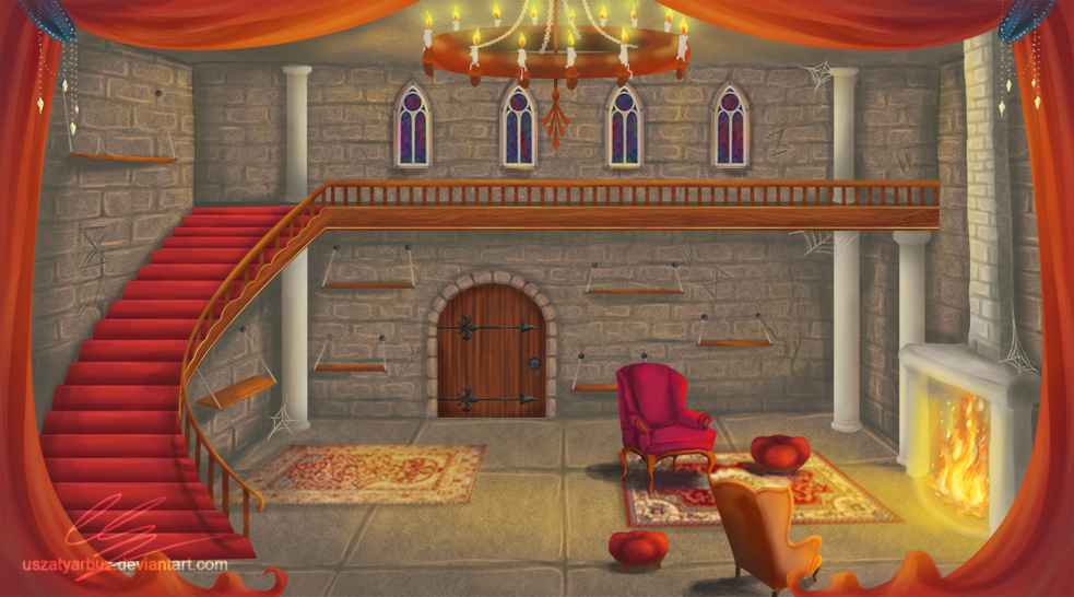 Castle Room Background By Uszatyarbuz On Deviantart