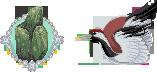 Jade and  Crane icons by UszatyArbuz