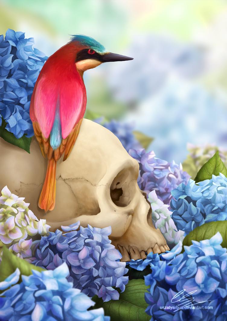 Blue Hydrangeas by UszatyArbuz