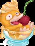 Psyduck vanilla ice-cream for Charity-Guild
