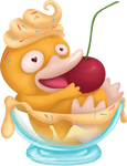 Psyduck vanilla ice-cream for Charity-Guild