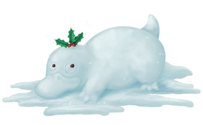 Psyduck snowman for Charity-Guild
