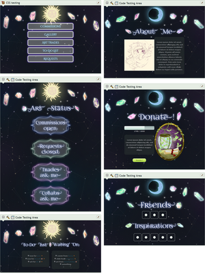 Magical crystals profile page by UszatyArbuz