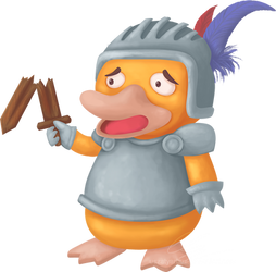 Psyduck as a knight