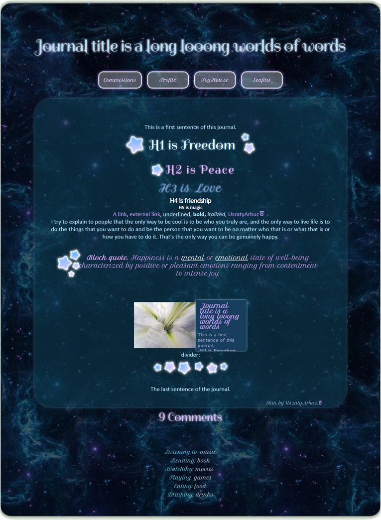 Deep Space journal skin by UszatyArbuz on DeviantArt