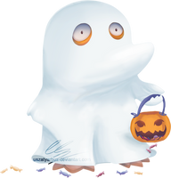 Ghost Psyduck by UszatyArbuz