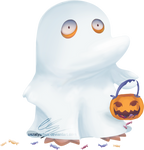 Ghost Psyduck by UszatyArbuz