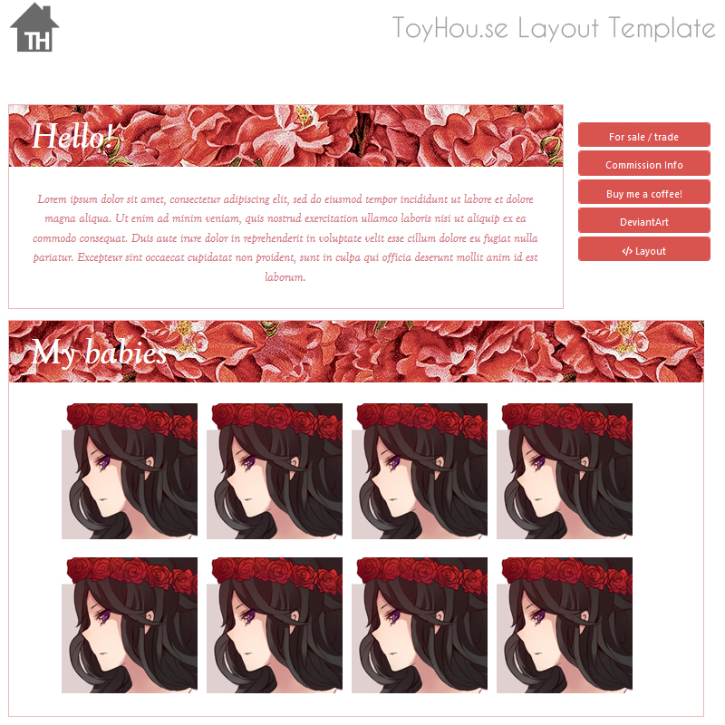 ToyHouse: Touch of roses (HTML) by UszatyArbuz on DeviantArt