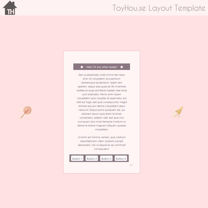 ToyHouse: Pink candy (HTML) by UszatyArbuz on DeviantArt