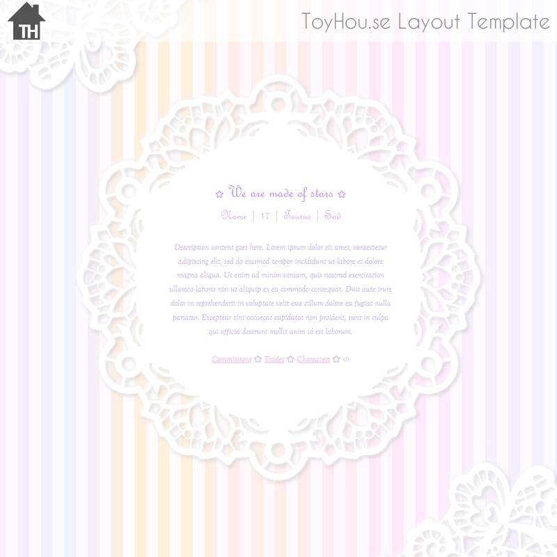 ToyHouse: Laces (HTML) by UszatyArbuz on DeviantArt