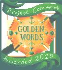 Golden Words badge by UszatyArbuz