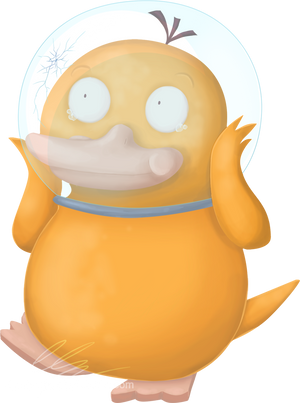 Psyduck in space by UszatyArbuz