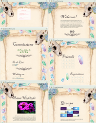 Parchement, crystals and skulls profile page by UszatyArbuz