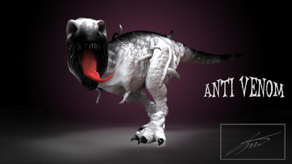 Anti-Venom T-Rex by Sebthy