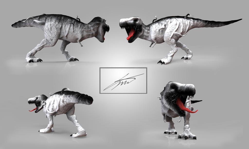 Anti-Venom T-Rex Views by Sebthy