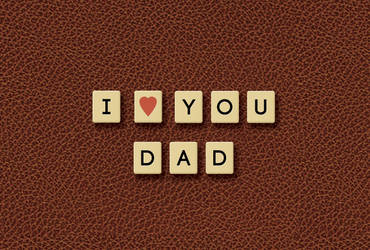 Father's Day scrabble leather by dontbemad