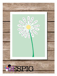Love me, Love me not Flower Poster Print by dontbemad