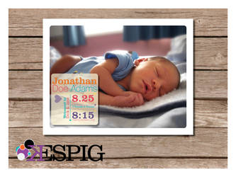 Cute Modern Birth Announcement Baby Announcement by dontbemad