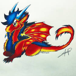 Alita - Fire Fur Dragon Chibi by Alita-Berserker
