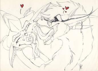 Licky love :3 by Alita-Berserker