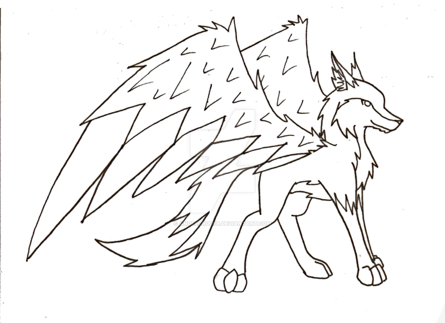 Wolf with wings by AngelCruger on DeviantArt