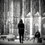 In front of the Cologne Cathedral