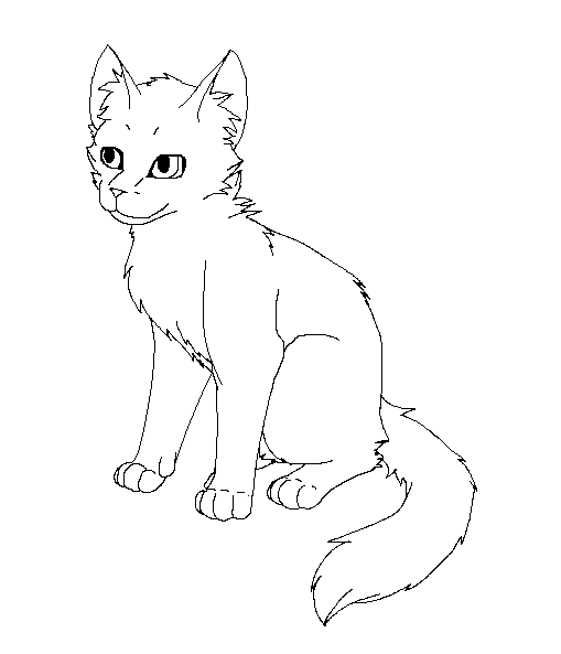The Gallery For Gt Warrior Cat Kits Lineart