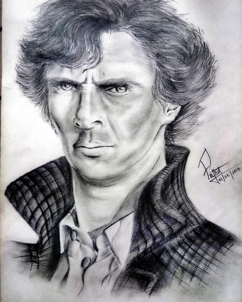 Sherlock Pencil Sketch - Benedict Cumberbatch by PratLegacy