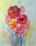 Oil Painting Original Flowers