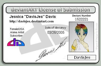 DeviantART License of Submission by DavisJes