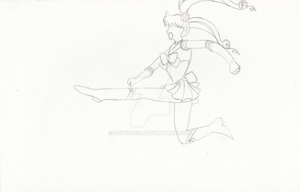 Sailor V Moon Kick by DavisJes