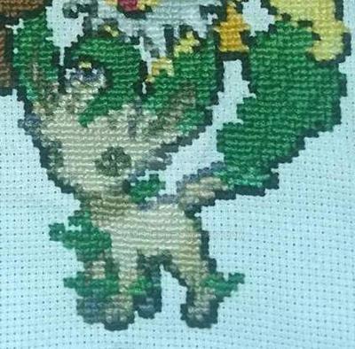 Leafeon Cross-stitch by DavisJes