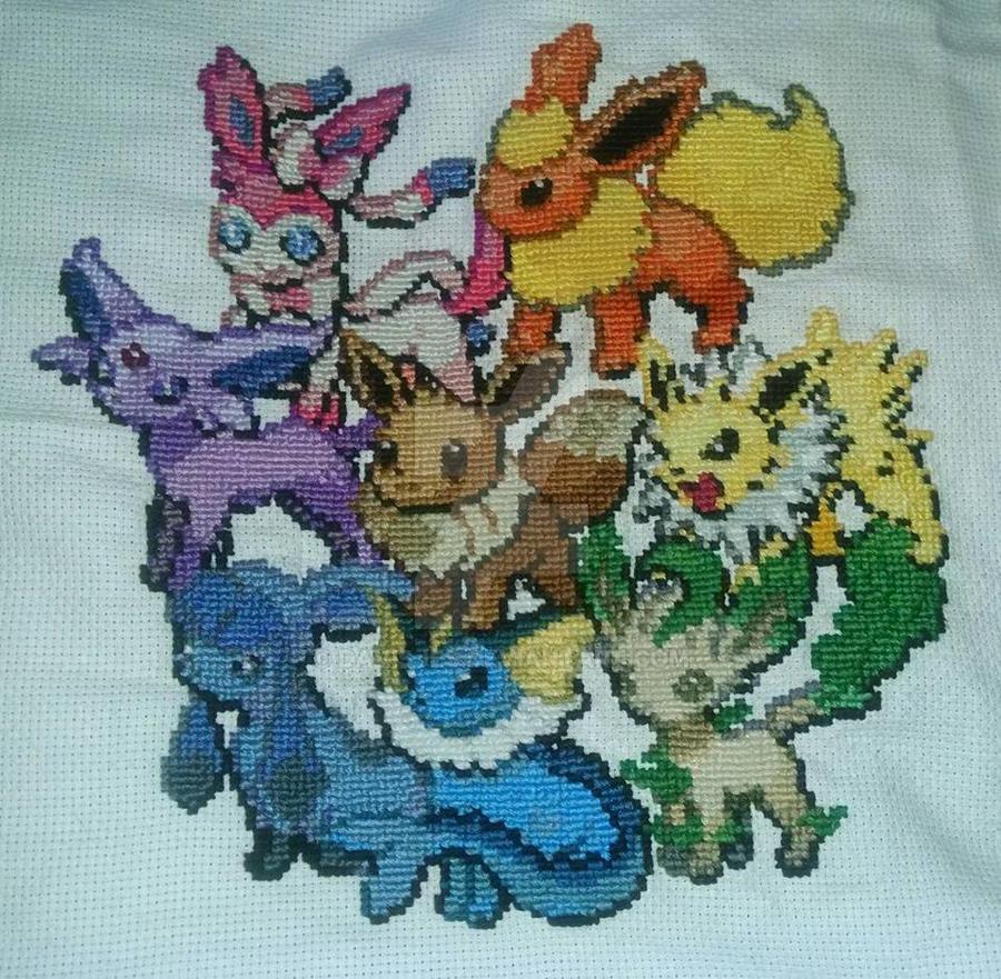 Eeveelution Cross-stitch by DavisJes