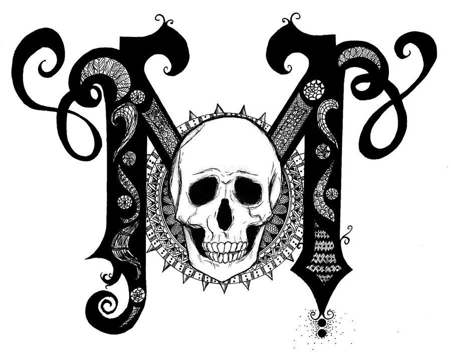 The Letter M Skull By Viatrix