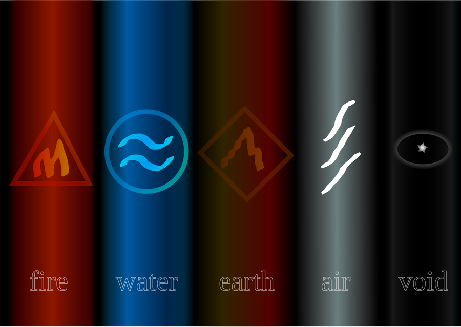 Five Elements Art : Five elements by czechbluebear on deviantart