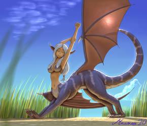 Stretchy Dragontaur