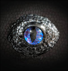 Glass and Polymer Clay Dragon Eye