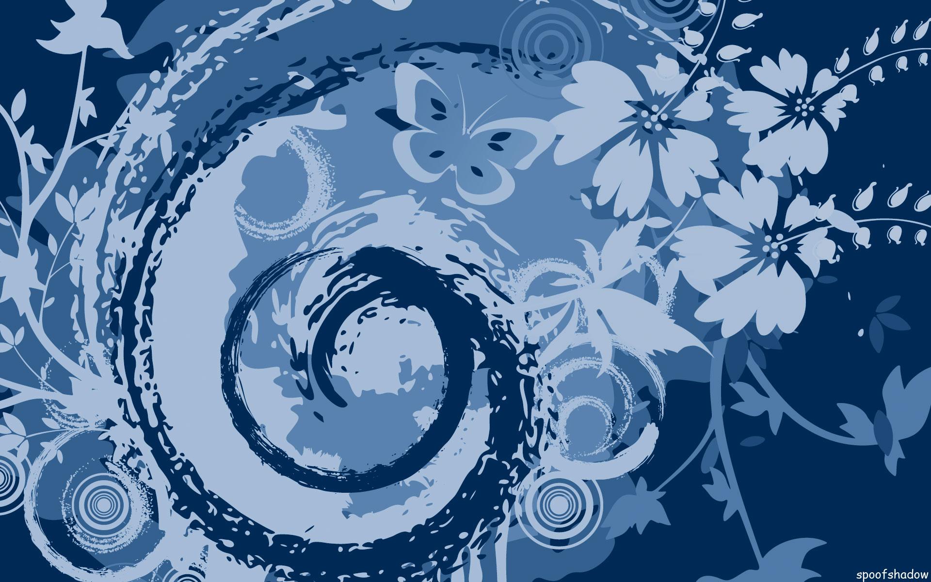 grunge, swirls, and flowers