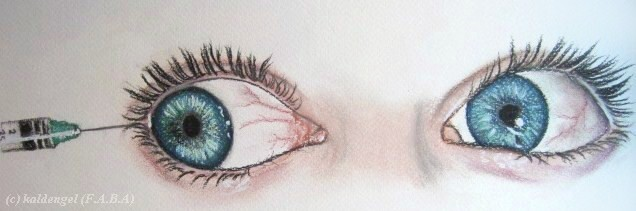 Bloodshot eyes by kaldengel