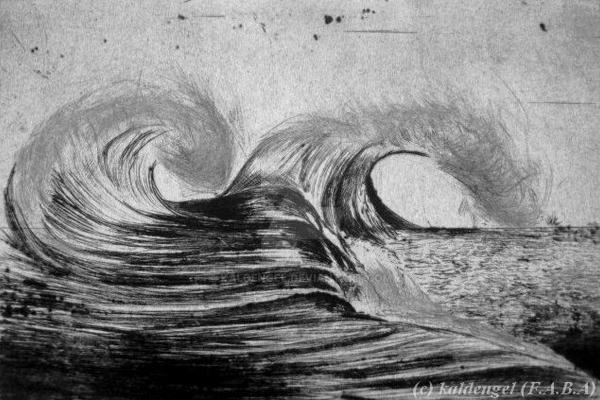 Ocean waves by kaldengel