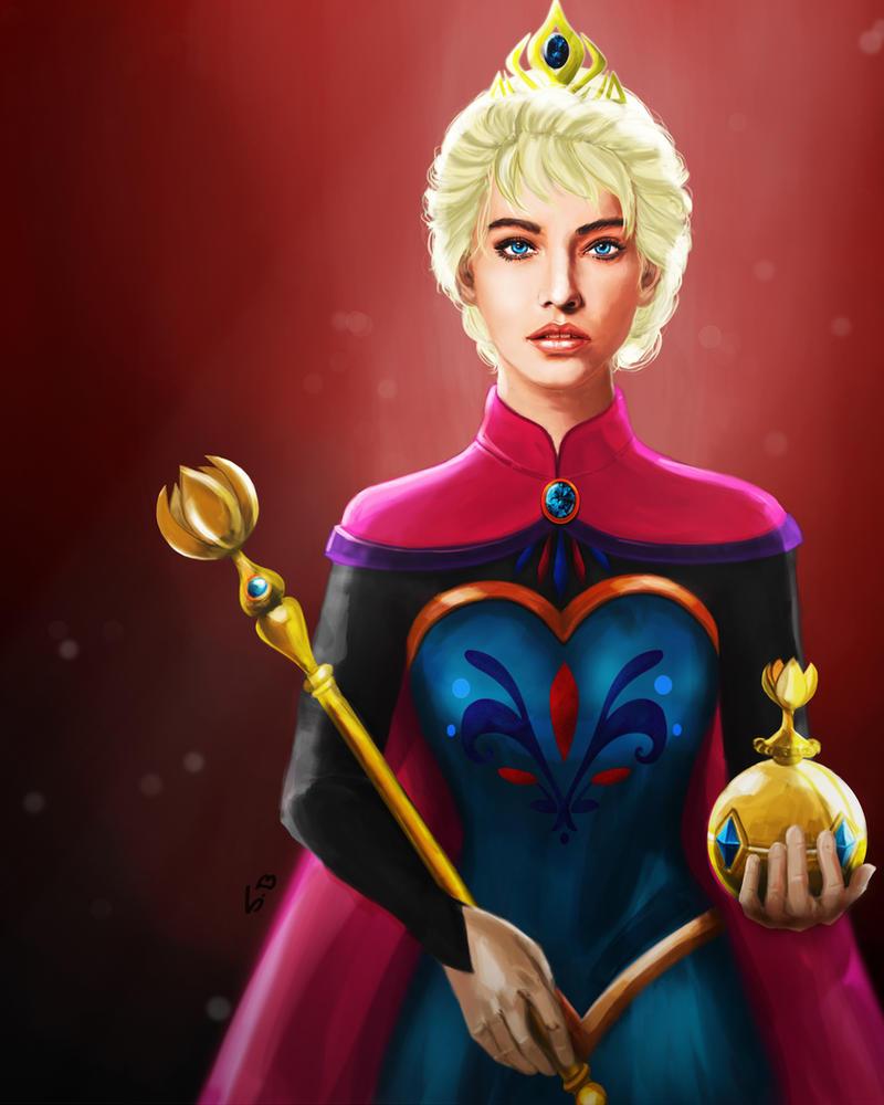 Queen Elsa by vanadise on DeviantArt