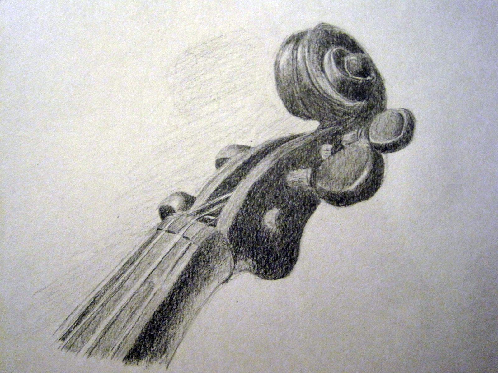 violin scroll by rosesakura921 on DeviantArt