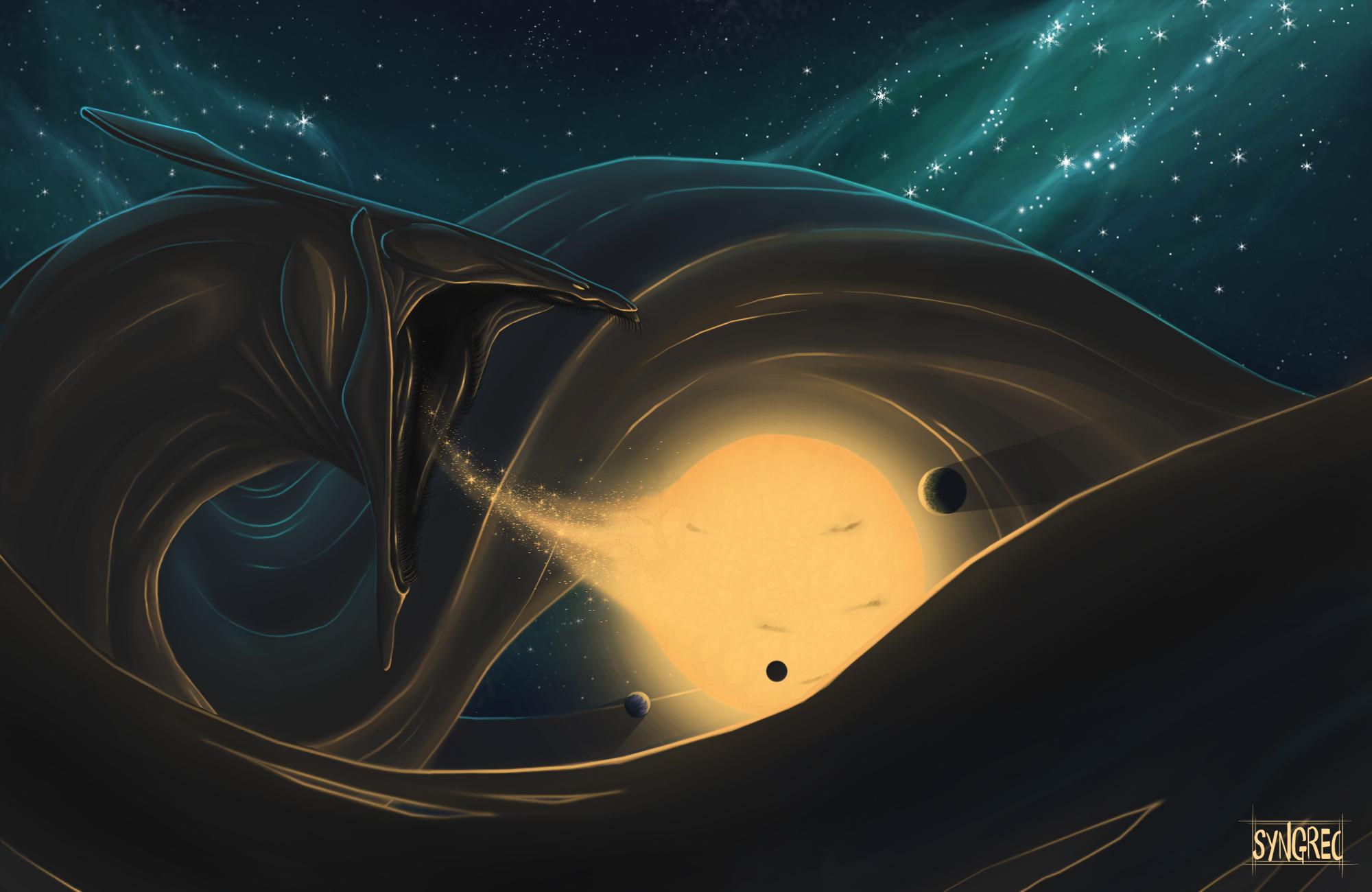 Supermassive Black Hole By Syngrec On DeviantArt