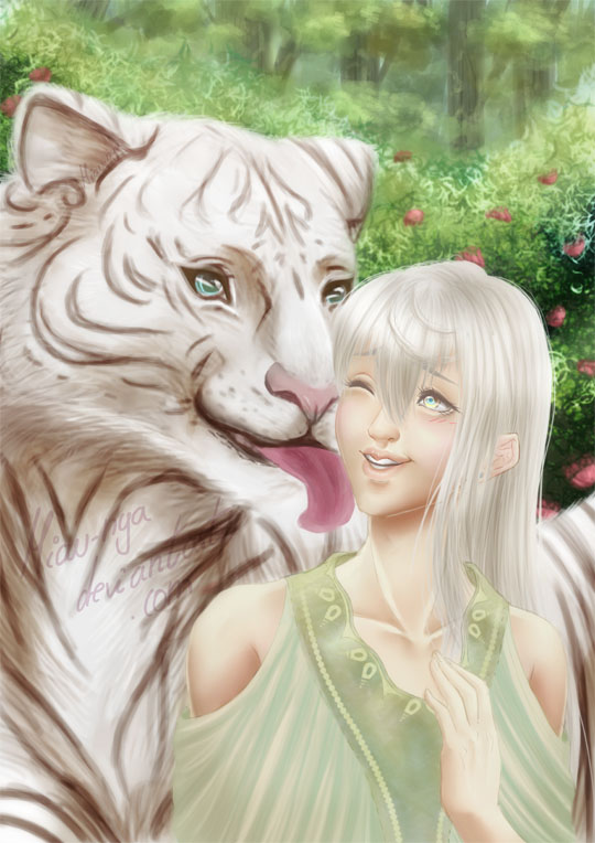 White tiger by Miau-nya