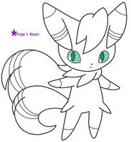 Male Meowstic Base/Lineart by Paige-the-unicorn