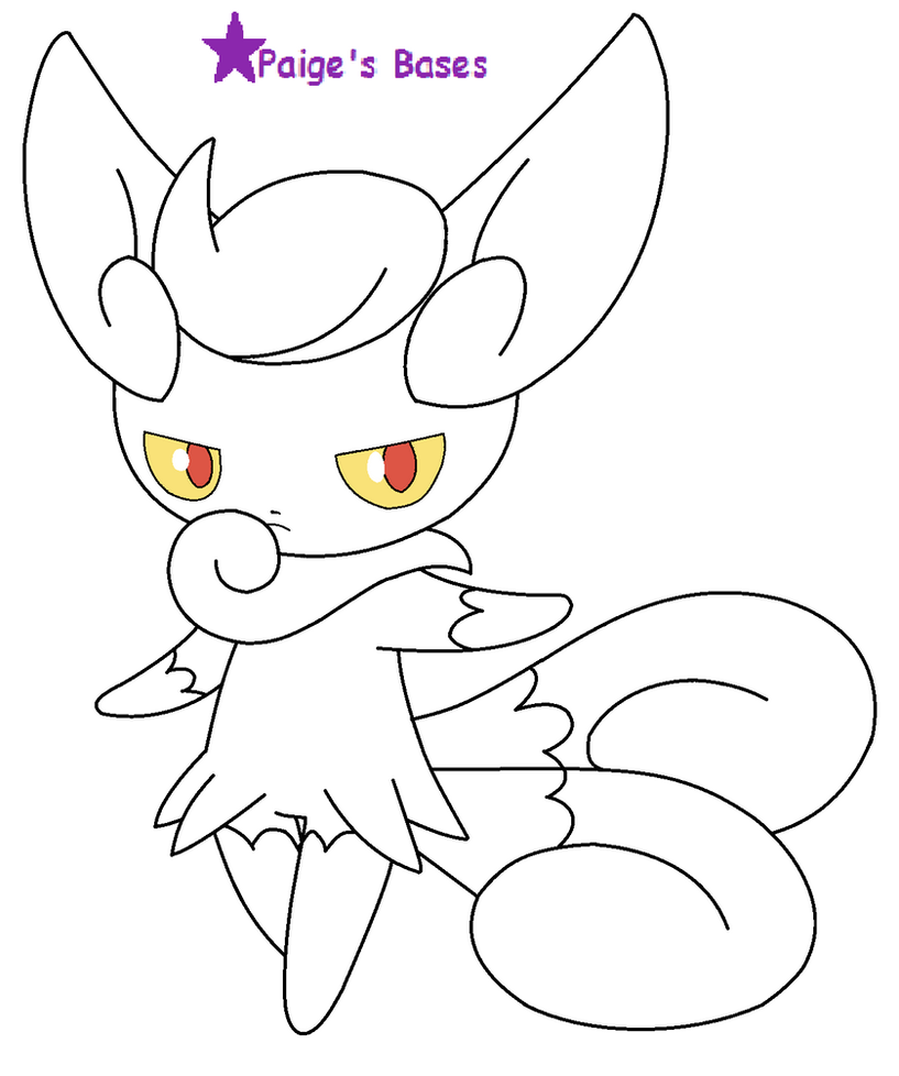paige coloring pages - female meowstic base lineart by paige the unicorn on