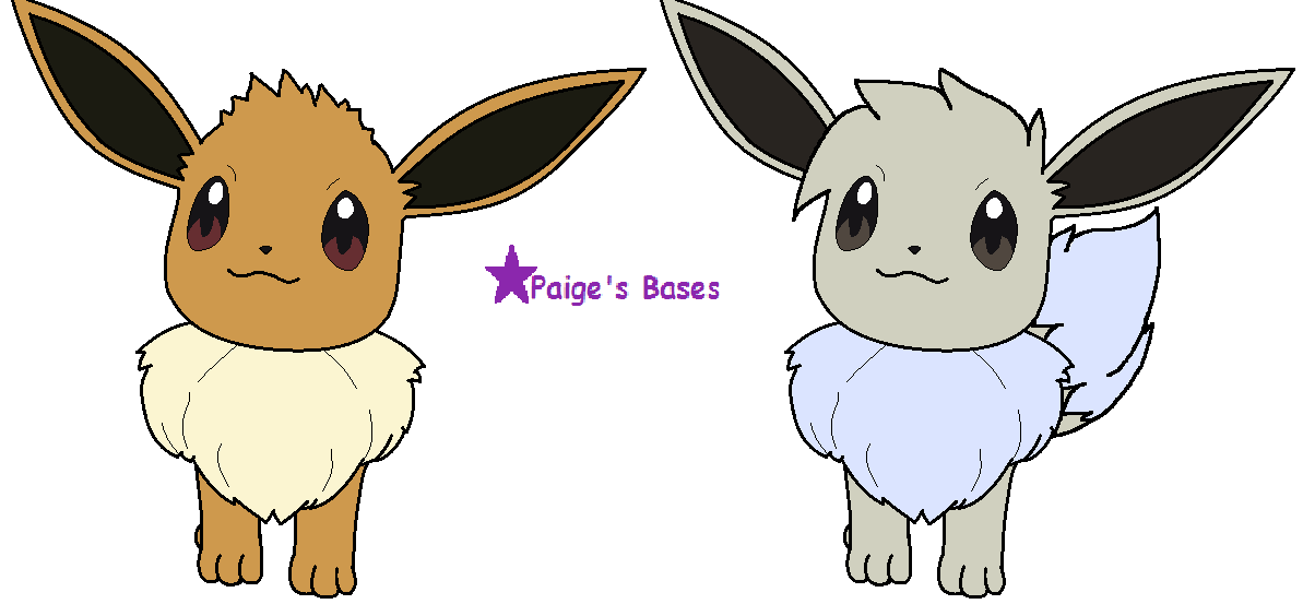 Hair Style Eevee: Amie Eevee Bases Of 2 Different Styles By Paige-the