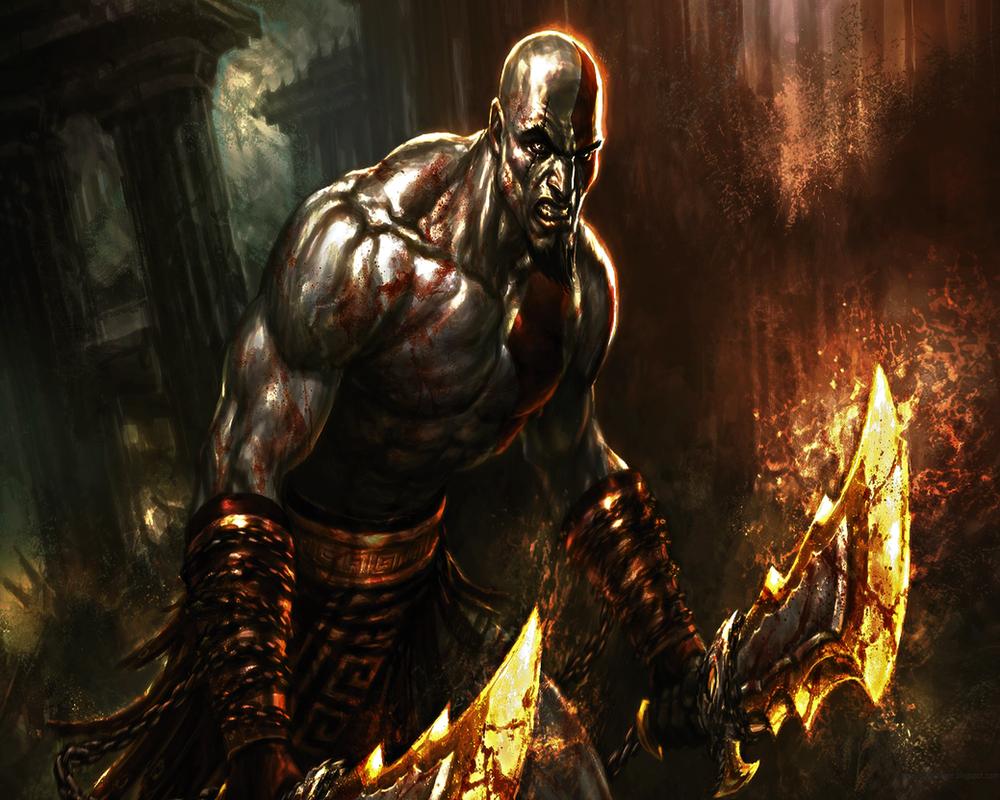 God of war kratos wallpaper by anubis55 on deviantart - Wallpaper kratos ...