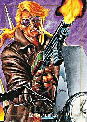 Marvel Masterpieces Series 1 1992 Card Set - Blaze by anubis55