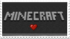 I heart minecraft stamp by EliseEnchanted